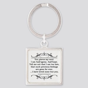 Persuasion, Jane Austen Square Keychain