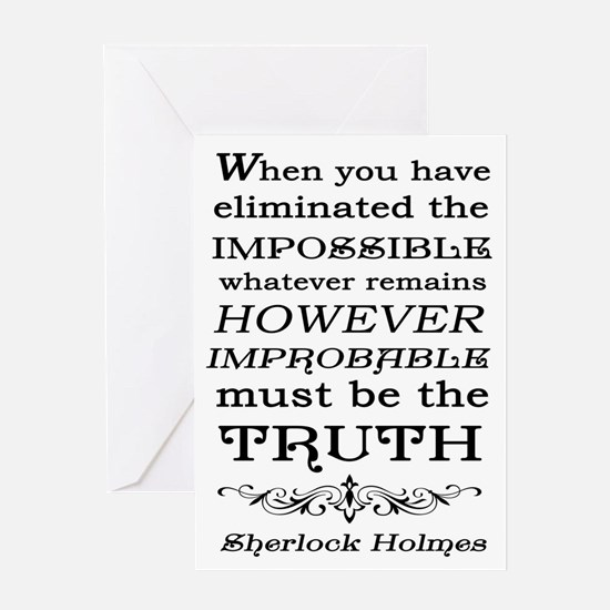 Sherlock Holmes Impossible Quote Greeting Card