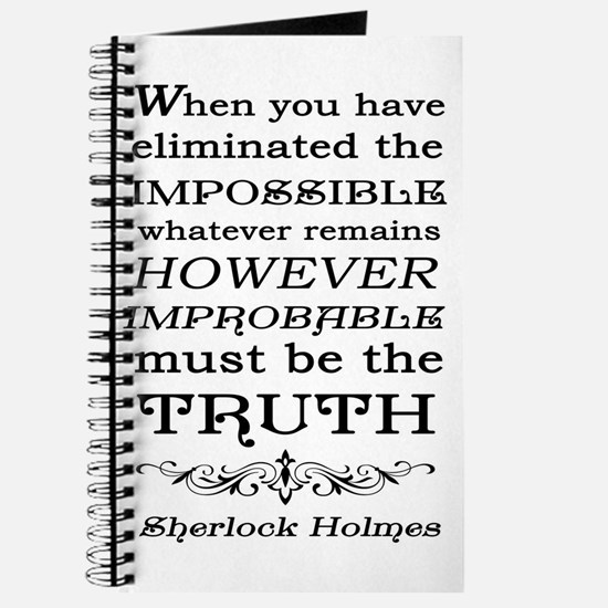Sherlock Holmes Impossible Quote Journal