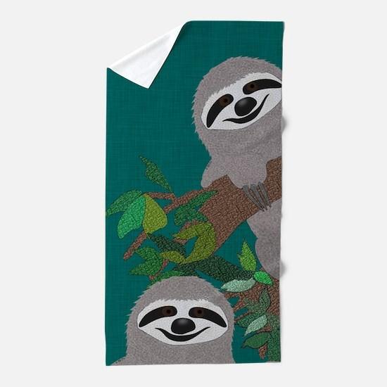 Sloth Beach Towel