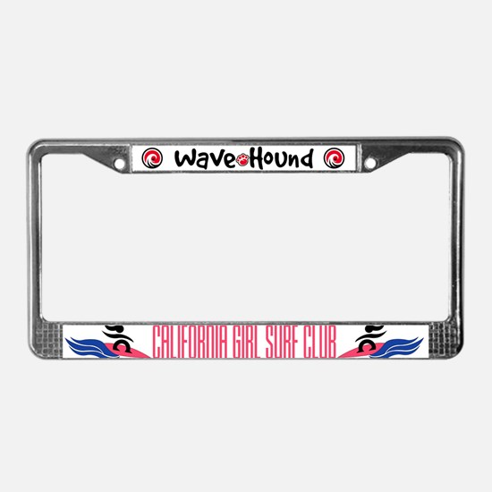California Girl Surf Club License Plate Frame