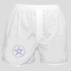silver blue 3d pentacle Boxer Shorts
