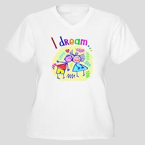 I Dream of Love Women's Plus Size V-Neck T-Shirt