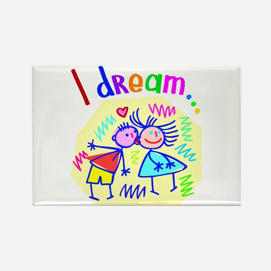 I Dream of Love Rectangle Magnet