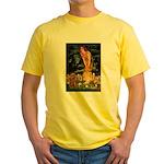 Fairies & Ruby Cavalier Yellow T-Shirt