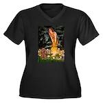 Fairies & Ruby Cavalier Women's Plus Size V-Neck D