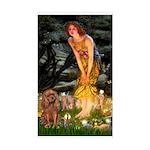 Fairies & Ruby Cavalier Sticker (Rectangle)