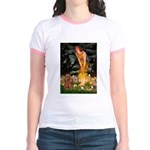Fairies & Ruby Cavalier Jr. Ringer T-Shirt