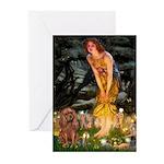 Fairies & Ruby Cavalier Greeting Cards (Pk of 10)