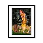 Fairies & Ruby Cavalier Framed Panel Print