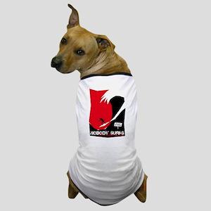 Nobody Surfs Like a California Girl Dog T-Shirt