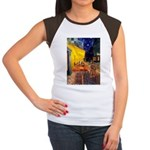 Cafe & Ruby Cavalier Women's Cap Sleeve T-Shirt