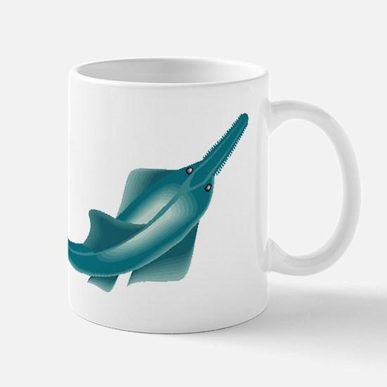 sawfish, saw fish, green, fish, animal Mugs