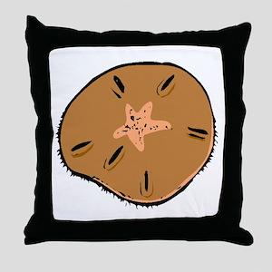 Brown Sand Dollar Throw Pillow