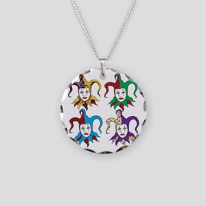 4 Jesters Necklace Circle Charm
