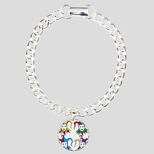 4 Jesters Charm Bracelet, One Charm