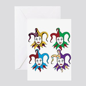 4 Jesters Greeting Card