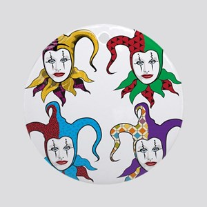 4 Jesters Ornament (Round)