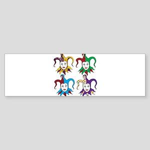 4 Jesters Sticker (Bumper)