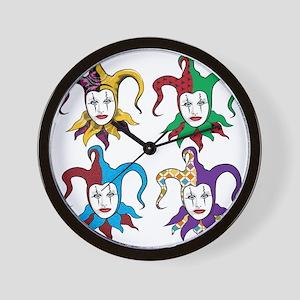 4 Jesters Wall Clock