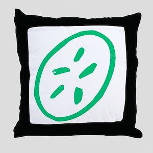Green Sand Dollar Throw Pillow