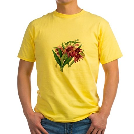 TROPICAL ORCHIDS Yellow T-Shirt