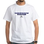 White Admin Mod GOLDZIP quote T-Shirt