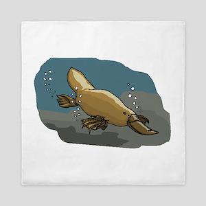 Platypus Underwater Queen Duvet