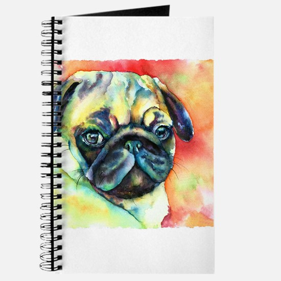 Tan Pug Glamour Journal