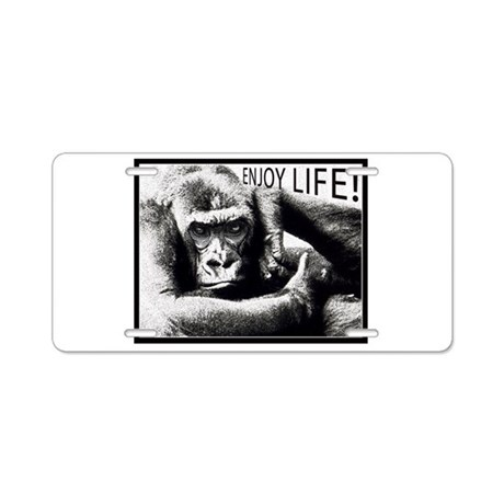 MonkeyLove Aluminum License Plate