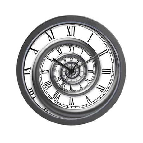 Roman Spiral Wall Clock By Vicevoices