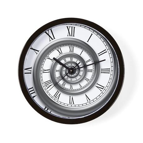 roman spiral Wall Clock