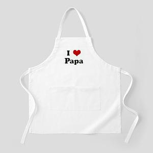 I Love Papa BBQ Apron
