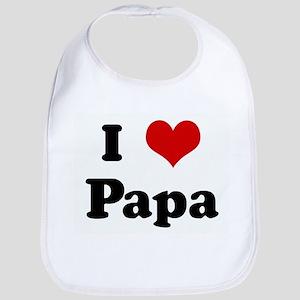 I Love Papa Bib