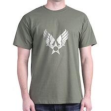 Winged Star Symbol Dark T-Shirt
