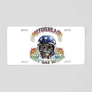 JUST SAY NITRO! Aluminum License Plate