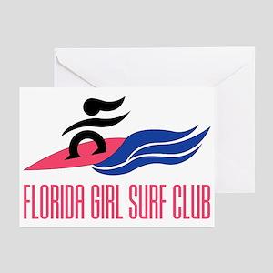 Florida Girl Surf Club Greeting Cards (Pk of 10)