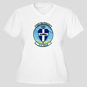 USS MEYERKORD Women's Plus Size V-Neck T-Shirt