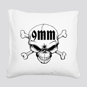 9mm Skull Square Canvas Pillow