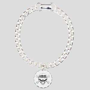 9mm Skull Bracelet Charm Bracelet, One Charm