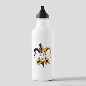 Joker Jester Comic Comedian Stainless Water Bottle