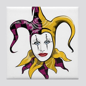 Joker Jester Comic Comedian Tile Coaster