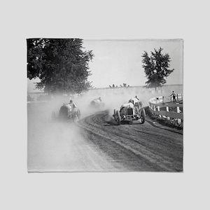 Rockville Fair Auto Races, 1923  Throw Blanket