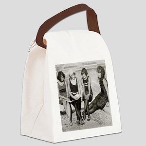 Girls at Atlantic City Beach, 192 Canvas Lunch Bag