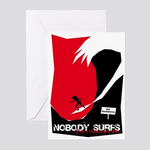 Nobody Surfs Like a Florida Girl Greeting Cards (P