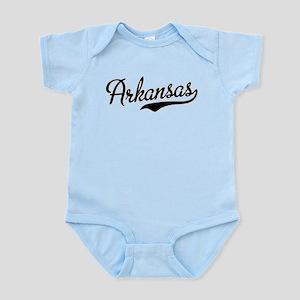 Arkansas Script Black Infant Bodysuit