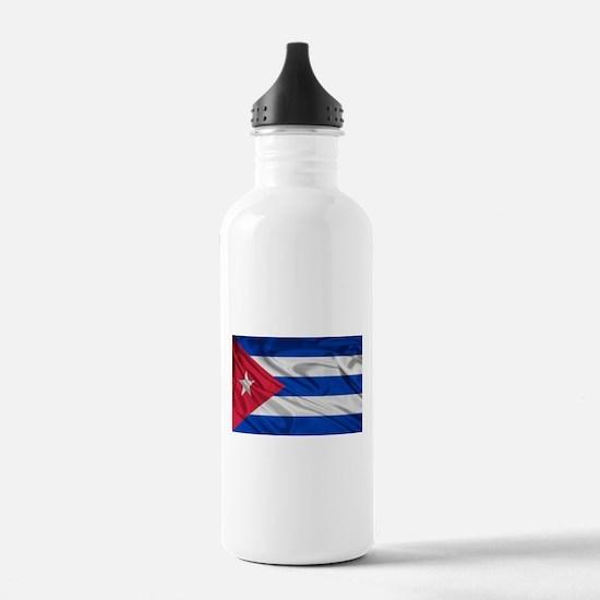 Cute Cuban flag Water Bottle
