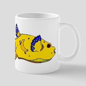 Yellow Puffer Fish Mugs