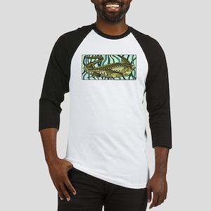 Green Oar Fish Baseball Jersey
