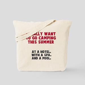 Camping this summer Tote Bag